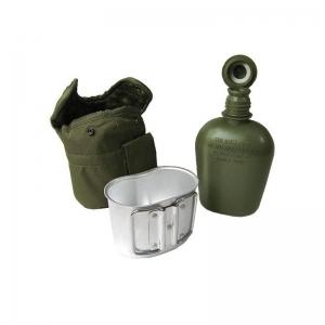 Фляга пластикова з алюмінієвою ємністю в чохлі Mil-Tec