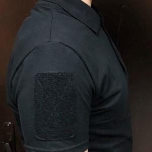 Сорочка поло футболка для поліції чорна