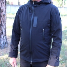 Куртка чорна, Police,softshell