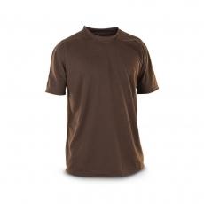 Футболка потовідвідна коричнева з тканини Coolmax
