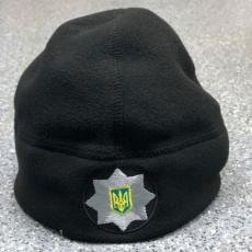 Флісова шапка Поліції чорна