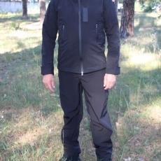 Костюм soft-shell чорний: куртка і брюки