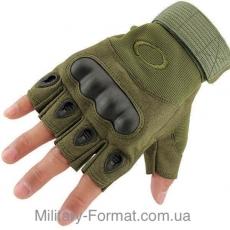 Рукавиці тактичні Oakley безпалі oliv