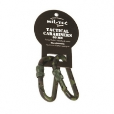 Карабін тактичний Mil-Tec Woodland 60 мм1 шт