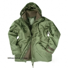 Куртка водонепроникна Mil-tec з флісовою підкладкою Oliv